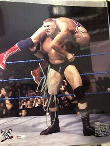 Brock Lesnar Signed WWE  WWF 8x10 Glossy Photo