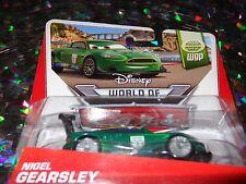 """DISNEY PIXAR CARS """"NIGEL GEARSLEY"""" Die-Cast Metal, Scale 1:55, NEW, Mattel"""
