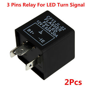 2x3 Pin CF13 Electronic Flasher Relay Fix LED Turn Signal Light Fast Blink Flash
