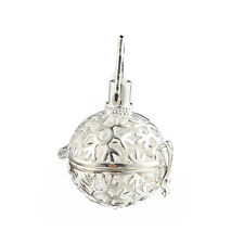 Gold/Silver Snowflake Locket Ball Pendant DIY Essential Oil Diffuser Necklace