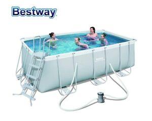 Bestway 56456 Power Steel piscina fuoriterra rettangolare 412x201x122 MOD 2021