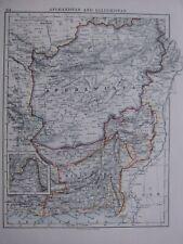1918 MAP AFGHANISTAN BALUCHISTAN