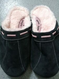 M&S Secret support slippers Suede With Soft Pink Lining size 7 New