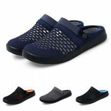 Big Size Summer Breathable Mens Casual Slip On Mules Shoes Outdoor Slippers 46 D