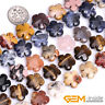 """15mm Natural Assorted Stones Flower Beads For Jewelry Making Strand 15""""Wholesale"""