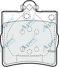 REAR BRAKE PADS FOR CHRYSLER CROSSFIRE ROADSTER GENUINE APEC PAD1063