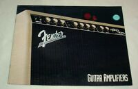 FENDER Guitar AMPLIFIERS Catalog 1993 • Re-Issues • BLACKFACE Tweed