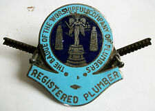 PLAQUE EMAILLEE THE BADGE OF THE WORSHIPFUL COMPANY OF PLUMBERS ENAMEL PLATE