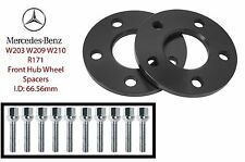 2pc 10mm Mercedes Benz Front Hub Spacers 5x112 66.56mm Fits: W203 W209 W210 R171