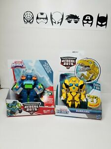 Hoist & Bumblebee Playskool Heroes Transformers Rescue Bots Action Figures Lot 2