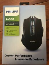 NEW Philips G200 Wired 7 Way LED Gaming Mouse With Ambiglow FREE SHIPPING