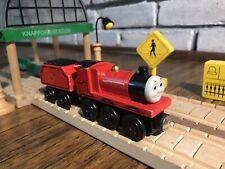 Thomas & Friends Wooden Railway JAMES & TENDER Train Engine Car Lot