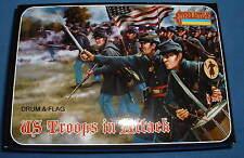 STRELETS Set 150-noi truppe dell' Unione in Attacco-ACW-IN SCALA 1/72