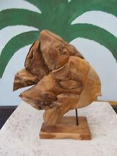bois poisson bambou wurzelteakholz figurine en décoration de jardin