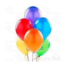 12 Inch Latex Balloons (Premium Helium Quality) Pack of 100 Ass... Free Shipping