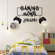 Personalised Gamers Tag Gaming Zone Graffiti Wall Stickers Decals XBOX PS4 Kids