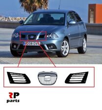 FOR SEAT IBIZA, CORDOBA 02-06 NEW FRONT BUMPER CENTER GRILL PAIR CHROME / BLACK
