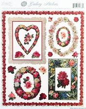 Rose Frames  Romantic Victorian Sticker Sheet