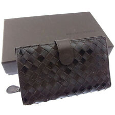Bottega Veneta Wallet Purse Bifold Intrecciato Brown Woman Authentic Used Y3046