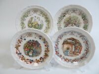 Royal Doulton Brambly Hedge - Full Set Of Four Seasons Pin Dishes In Gift Box