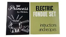 Vtg Instructions & Recipes BOOKLET ONLY for Regal Princess Electric Fondue Set