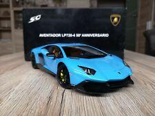 Lamborghini Aventador LP720-4 50th Anniversary blau 1:18 Autoart OVP 74682
