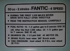 FANTIC TANK TOP 4 SPEED DECAL LAMINATED