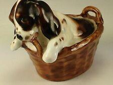 Vintage Royal Doulton Porcelain Puppy Dog In Basket England