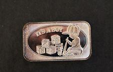 1985 It's a Boy Continental Coin Corp CCC-28 Silver Art Bar P0785