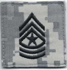 ACU US Army E-9 E9 SGM Sergeant Major Rank Insignia Hook Fastener Patch