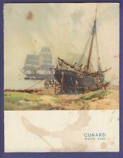 1949 RMS Samaria- Luncheon Menu - Cunard White Star Line