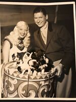 SUPER CIRCUS STAR MARY HARTLINE,CLAUDE KIRCHNER,PUPPIES, 9/12/54.Autographed