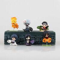 6pcs Naruto Mini Action Figures Cake Topper Set Naruto Kakashi Sasuke Orochimaru