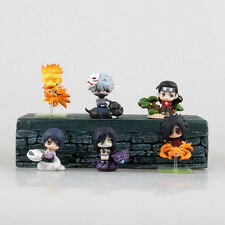 6 Naruto Mini Action Figures Set Naruto Kakashi Sasuke Madara Orochimaru NEW