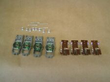 Vintage NOS 4 ea. Aurora HO Vibrator chassis with Brush plates, axles & hubs