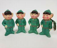 Lot Of (4) Vintage Irish Leprechaun Figures - Made In Japan