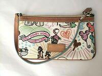 Disney Dooney & Bourke Sketch wristlet Mickey Minnie bag castle balloons purse