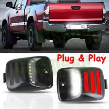 For Toyota Tacoma 2005-2015 [RED OLED TUBE] LED License Plate Light Lamp Pair
