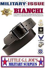 "Black Garrison Belt Bianchi B8G PatrolTek Leather 1 3/4""W  38""-42"" Nickel Buckle"