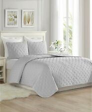 Cathay Home Inc. Super Soft Dot Embroidery 3 Pc Cal King / King Quilt Set $216