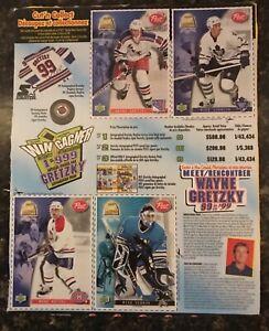 Wayne Gretzky Cereal Box Hockey Card Panels
