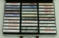 Lot of 30 Vintage 70s 80s Country Cassette Tapes w Carrying Case