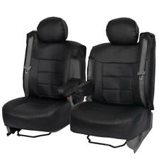 PU Leather Auto Seat Cover Set for GMC Built-In Armrests & Seat Belts - Black