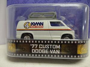 Hot Wheels '77 CUSTOM DODGE VAN White w/RR ANCHORMAN San Diego KWWN