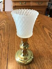 "Home Interiors Homco Frosted Diamond Cut ""Hobnail� Votive Cup 2 3/4� Tall"