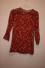 ZARA GIRLS CASUAL COLLECTION FLORAL LONG SLEEVE 100% VISCOSE DRESS SIZE 11-12