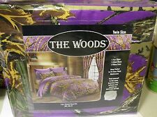Camo Purple Woods-Twin Size 3 Pc 800 TC,Deep Pocket.Sheet Set In Bag->Free To US