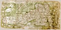 MAP ANTIQUE C.1360 UNKNOWN GOUGH BRITISH ISLES LARGE REPRO POSTER PRINT PAM0723