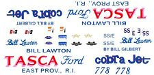 Bill Lawton TASCA Ford 67-68 Mustang Cobra Jet 1/24 - 1/25 Waterslide Decals