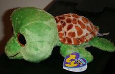Ty Beanie Boos - SANDY the Turtle (6 Inch)(Solid Eyes - Flipper Feet) NEW MWMT